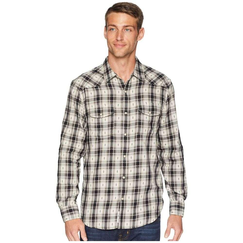 ラッキーブランド Lucky Brand メンズ トップス シャツ【Dobby Western Shirt】Black/White