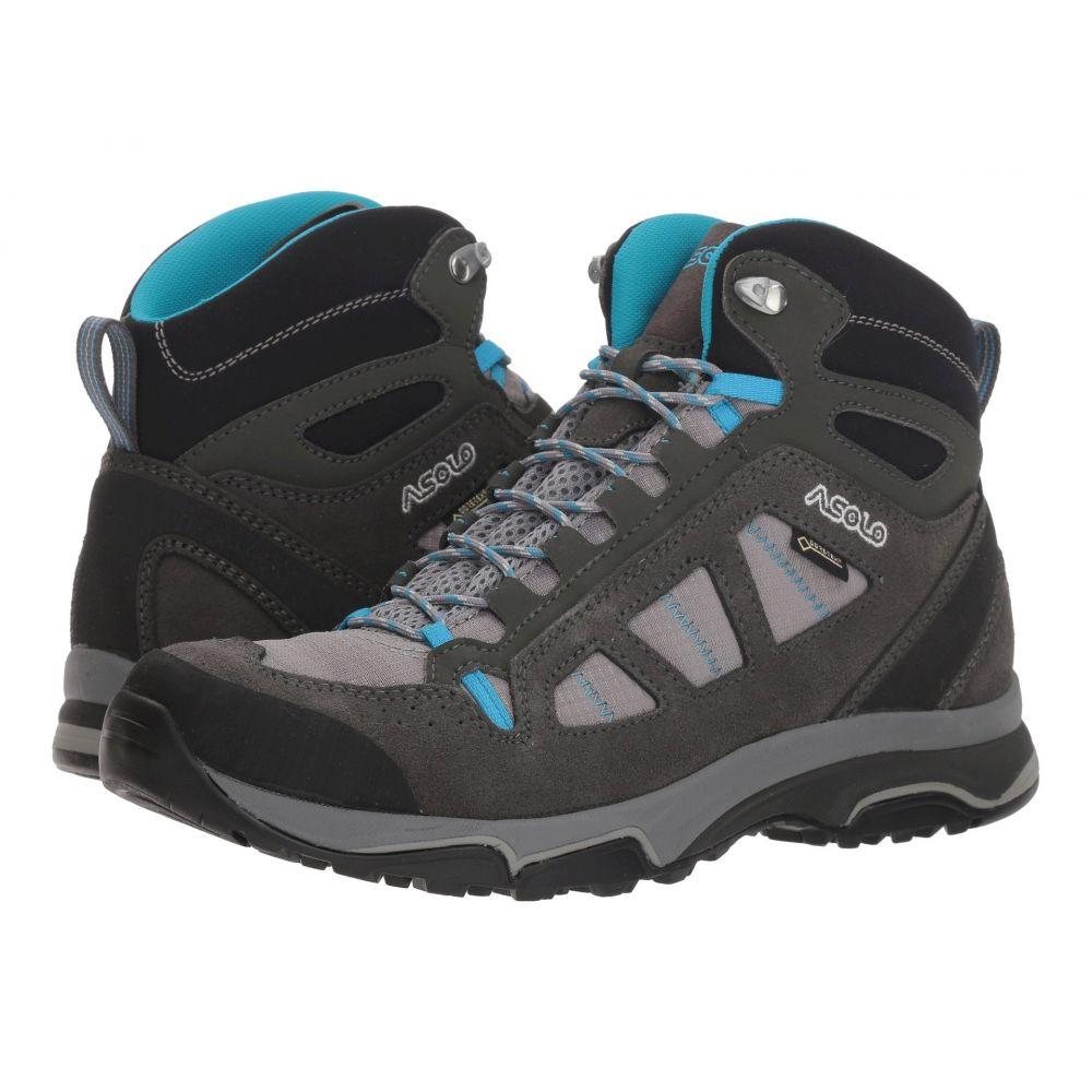 アゾロ Asolo レディース ハイキング・登山 シューズ・靴【Megaton Mid GV ML】Graphite Stone/Cyan Blue