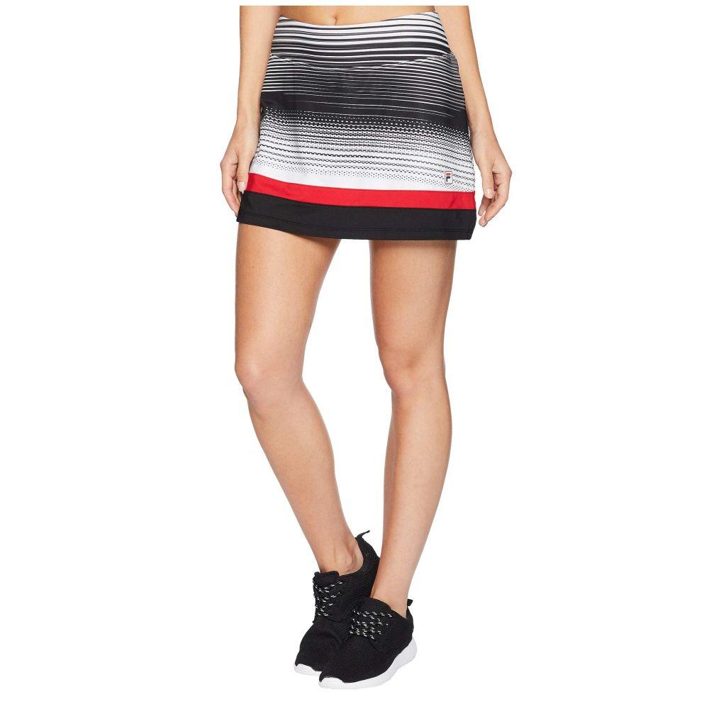 フィラ Fila レディース テニス ボトムス・パンツ【Heritage Tennis Skort】Heritage Stripe/Black/Crimson