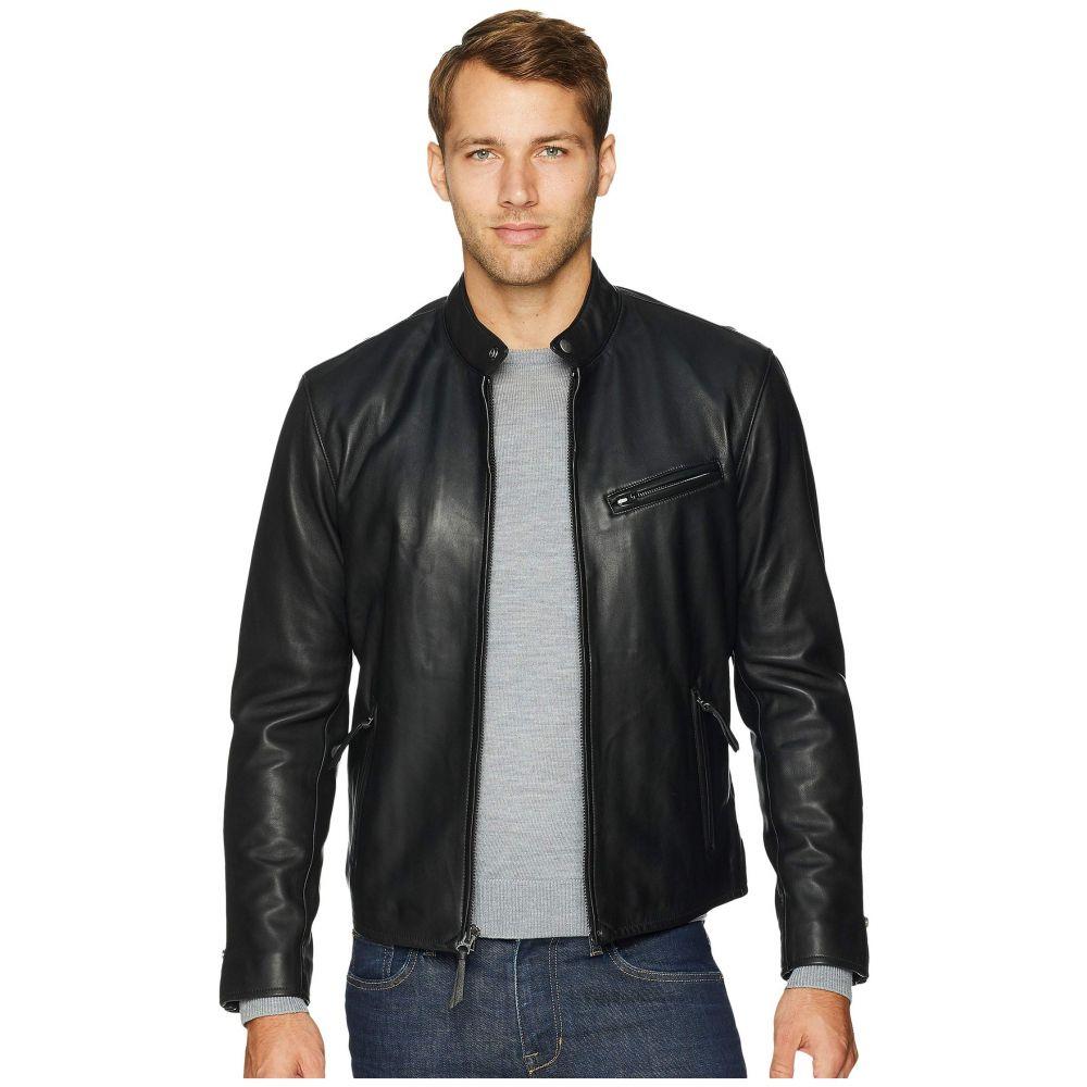 ラルフ ローレン Polo Ralph Lauren メンズ アウター レザージャケット【Cafe Racer Leather Jacket】Polo Black