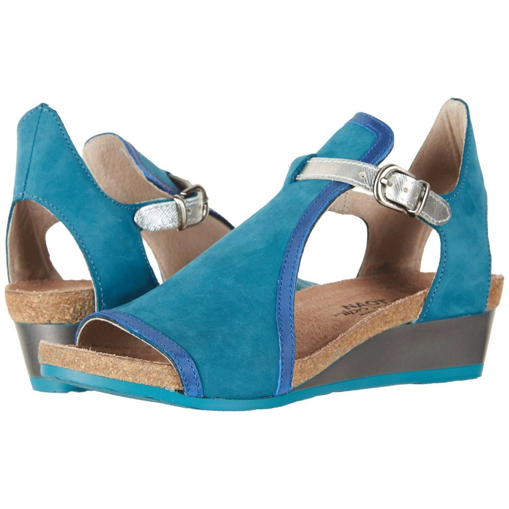 ナオト Naot レディース シューズ・靴 サンダル・ミュール【Fiona】Teal Nubuck/Oily Blue Nubuck/Silver Luster Leather