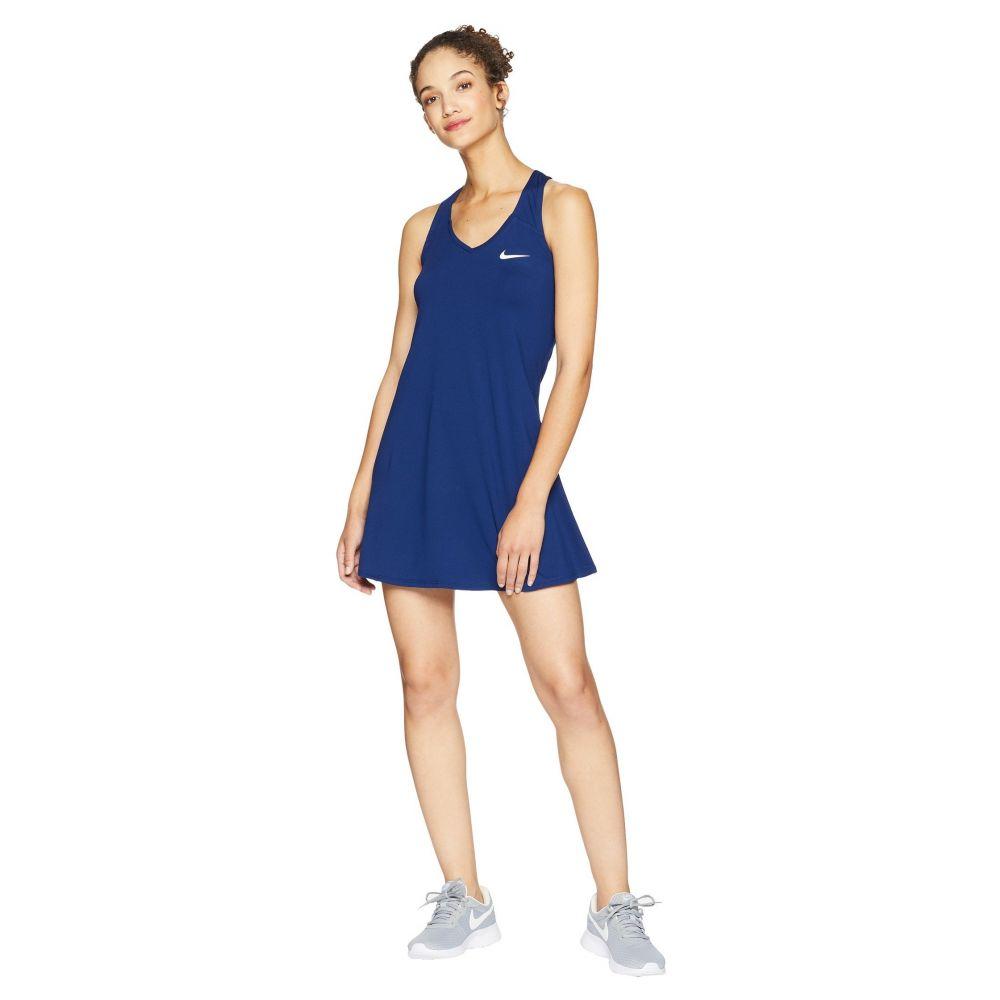 ナイキ Nike レディース テニス トップス【Court Dry Tennis Dress】Blue Void/White