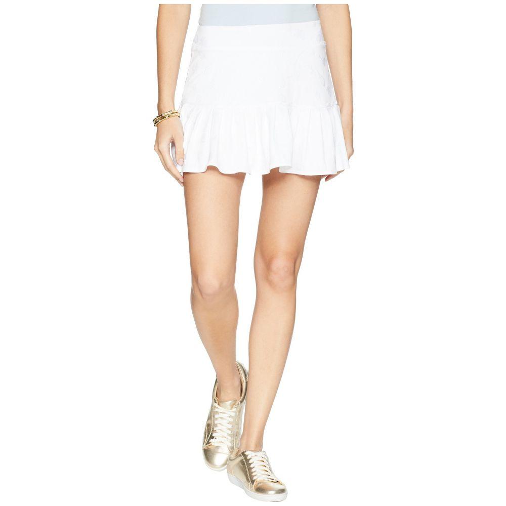 リリーピュリッツァー Lilly Pulitzer レディース テニス ボトムス・パンツ【UPF 50+ Meryl Nylon Luxletic Taye Tennis Skort】Resort White Perfect Match