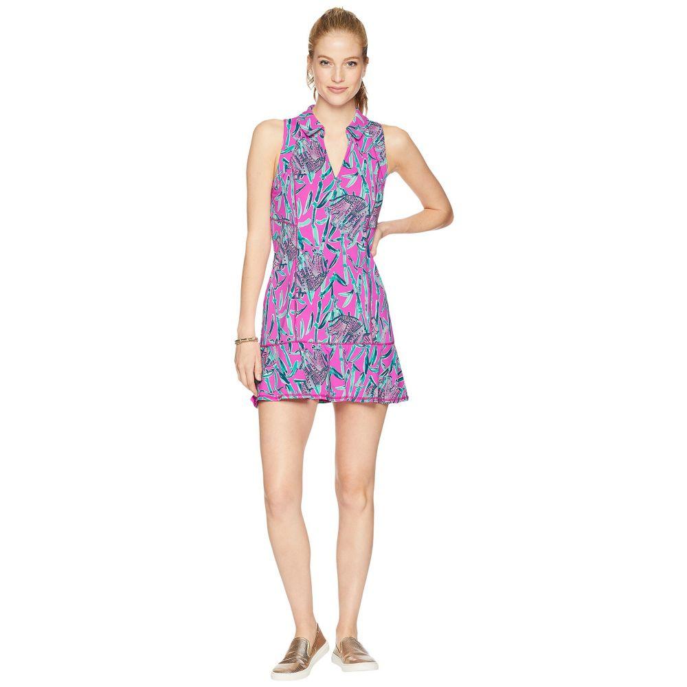 リリーピュリッツァー Lilly Pulitzer レディース テニス トップス【UPF 50+ Luxletic Martina Tennis Dress】Mandevilla Pink Extra Lucky