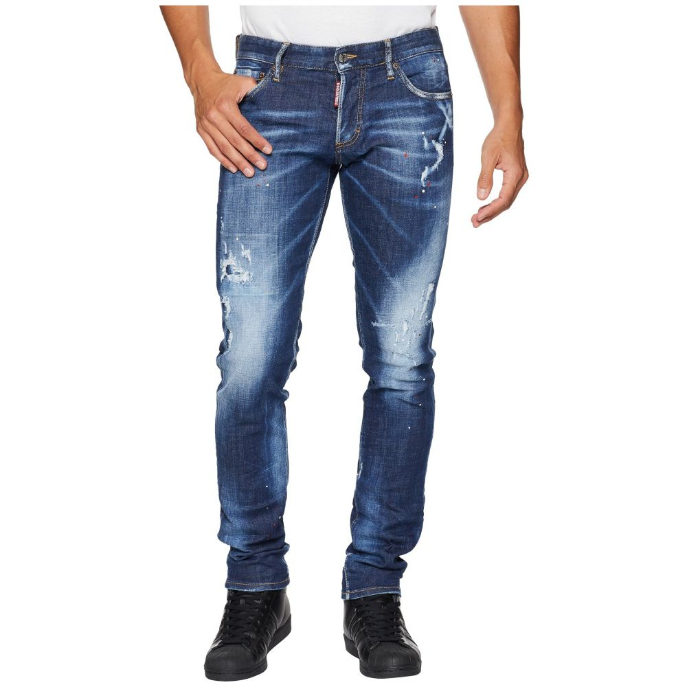 ディースクエアード DSQUARED2 メンズ ボトムス・パンツ ジーンズ・デニム【Slim Jean】Blue Top Spot Wash