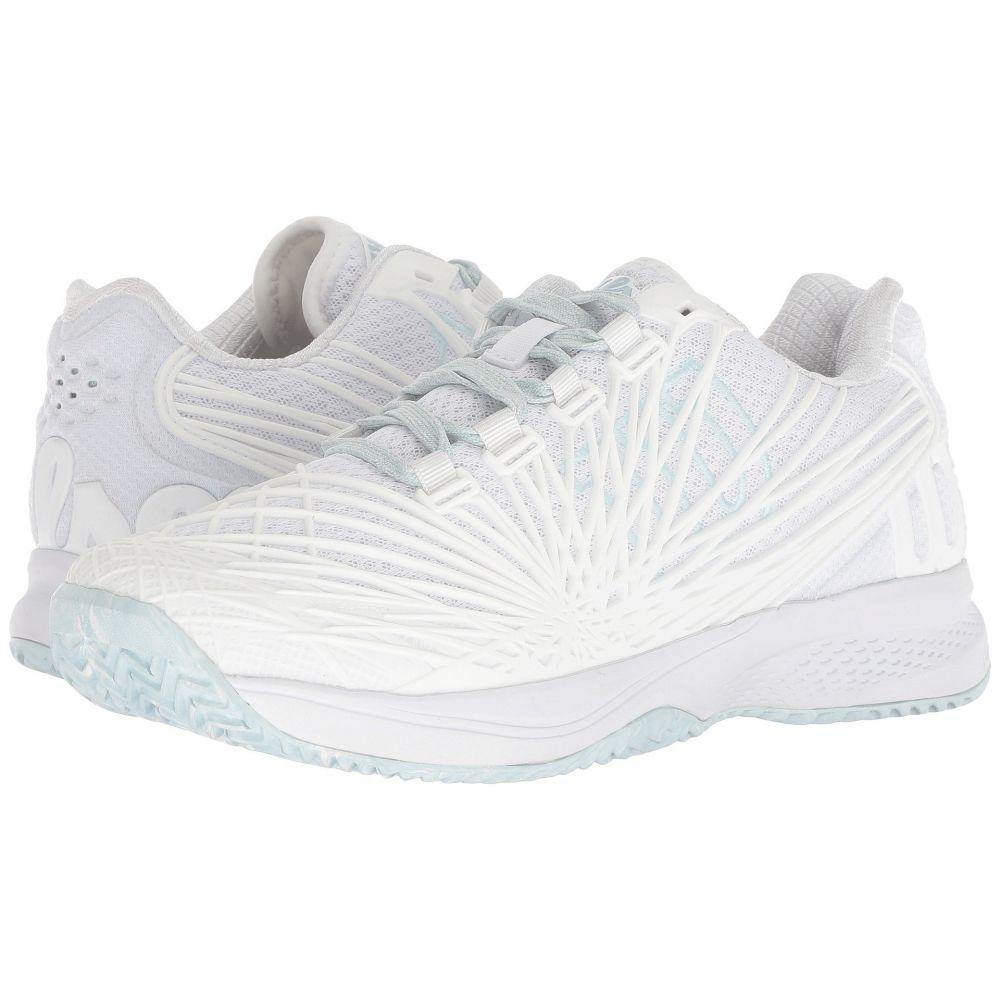 ウィルソン Wilson レディース テニス シューズ・靴【Kaos 2.0】White/White/Blue Glow