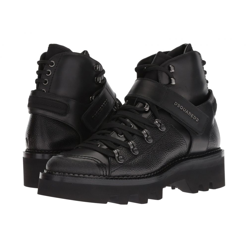 ディースクエアード DSQUARED2 メンズ ハイキング・登山 シューズ・靴【Hiking Ankle Boot】Black