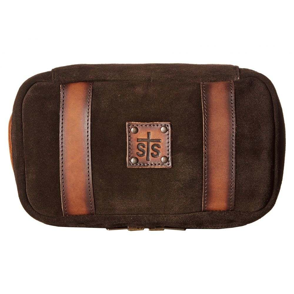 STSランチウェア STS Ranchwear メンズ ポーチ【Heritage Shave Kit】Chocolate Suede/Tornado Brown