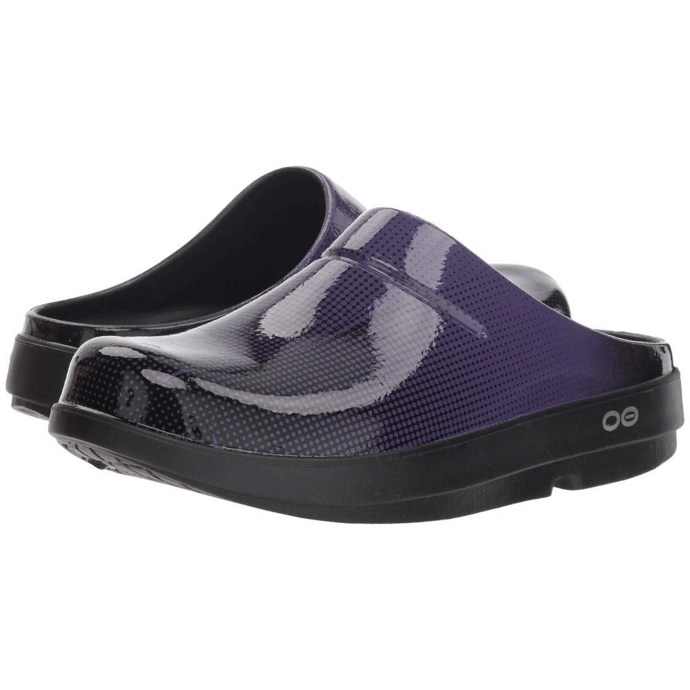 オーフォス OOFOS レディース シューズ・靴【OOcloog Luxe Pixel】Purple Pixel