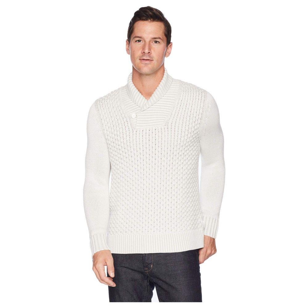 カルバンクライン Calvin Klein メンズ トップス ニット・セーター【Plaited Texture Shawl Neck Sweater】Snow White Combo