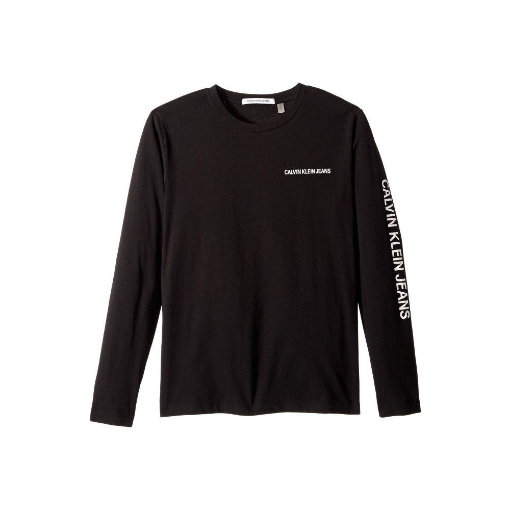 カルバンクライン Calvin Klein Jeans メンズ トップス 長袖Tシャツ【Long Sleeve Core Logo Tee】CK Black