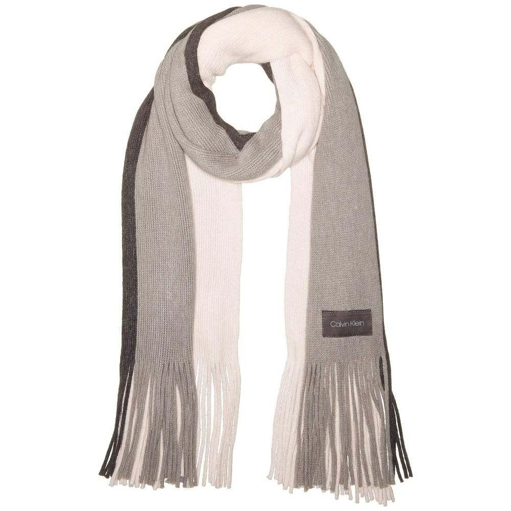 カルバンクライン Calvin Klein レディース マフラー・スカーフ・ストール【Three-Color Wrap Knit Scarf】Petal