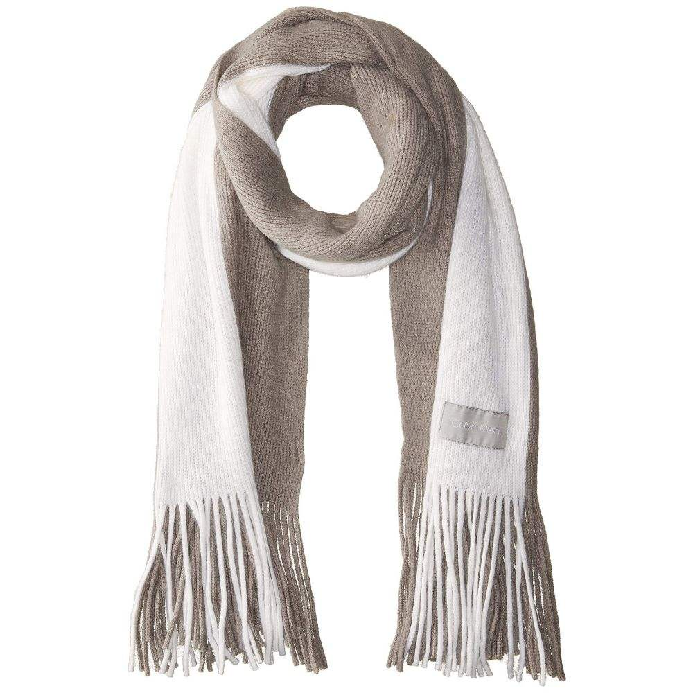 カルバンクライン Calvin Klein レディース マフラー・スカーフ・ストール【Bold Stripe Scarf】Heathered Mid Grey