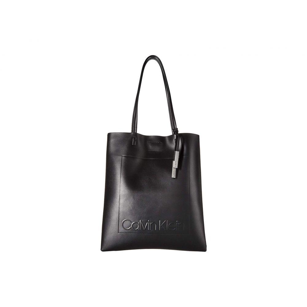カルバンクライン Calvin Klein レディース バッグ トートバッグ【Nora Pressed Pebble PVC North/South Tote】Black