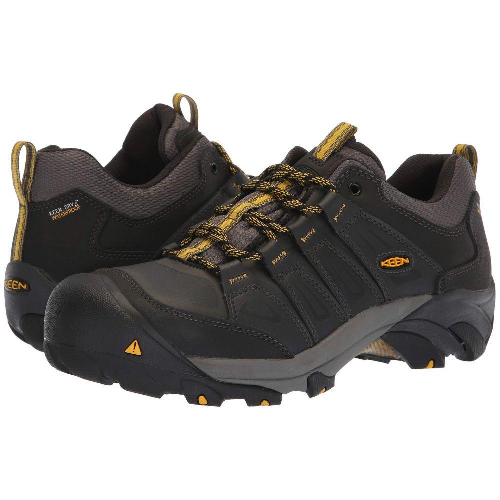 キーン Keen Utility メンズ ハイキング・登山 シューズ・靴【Boulder Steel Toe Waterproof】Raven/Yellow