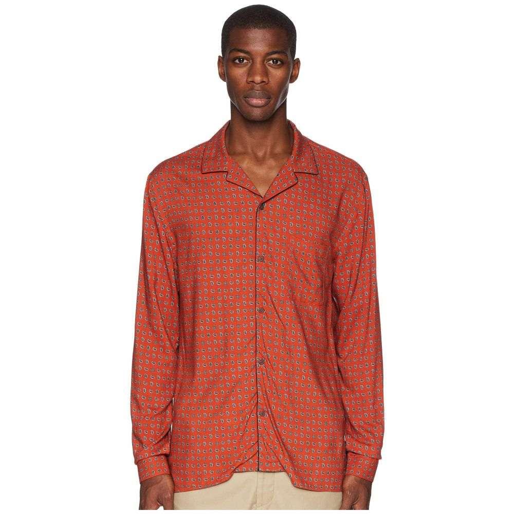 クーパース The Kooples メンズ トップス シャツ【Fitted Shirt with A Hawaiian Collar】Orange