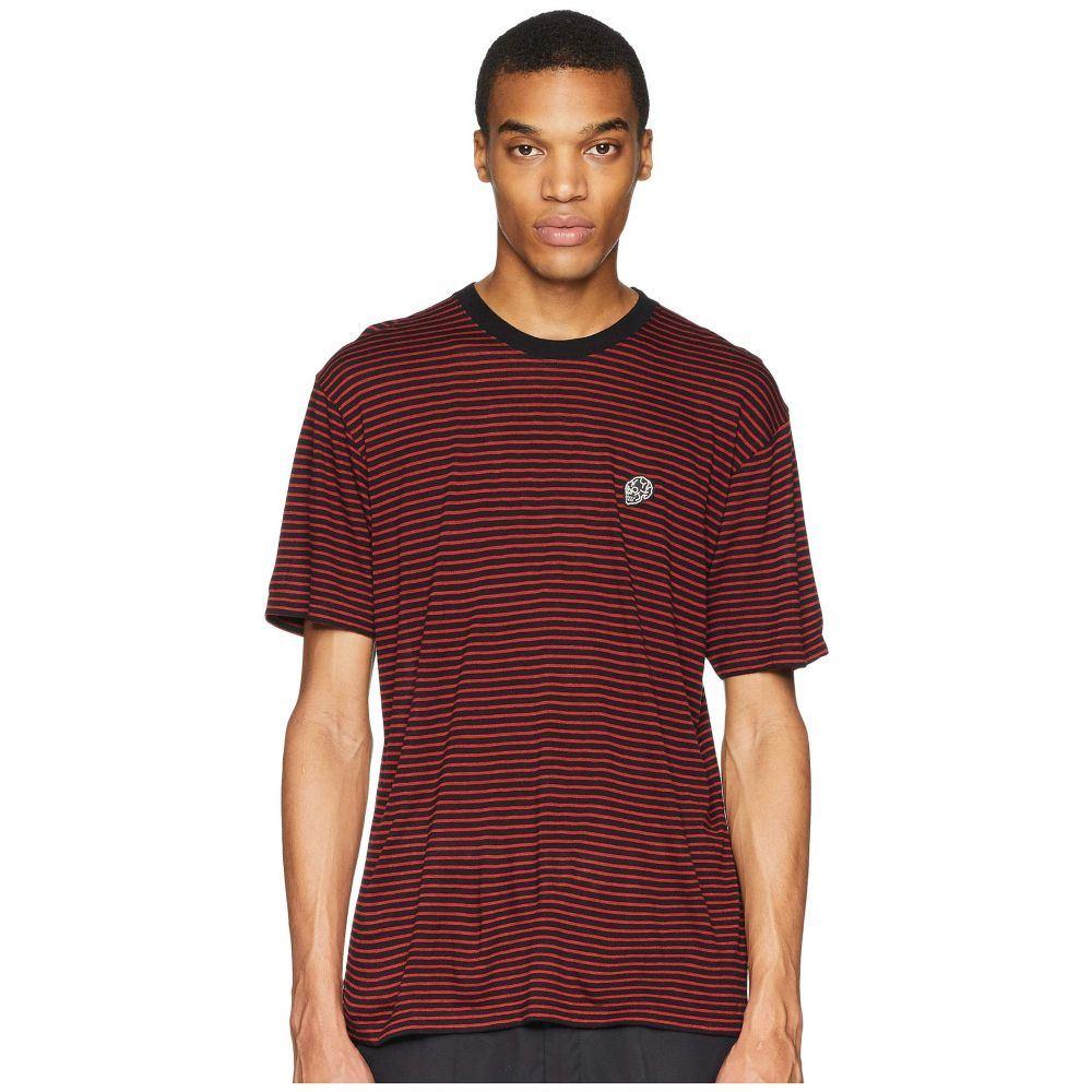 クーパース The Kooples メンズ トップス Tシャツ【Stripe T-Shirt】Black/Red