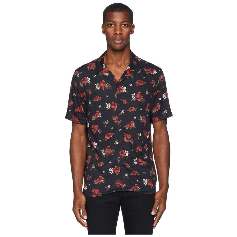 クーパース The Kooples メンズ トップス シャツ【Hawaiian Flower Shirt】Black/Red/Off-White