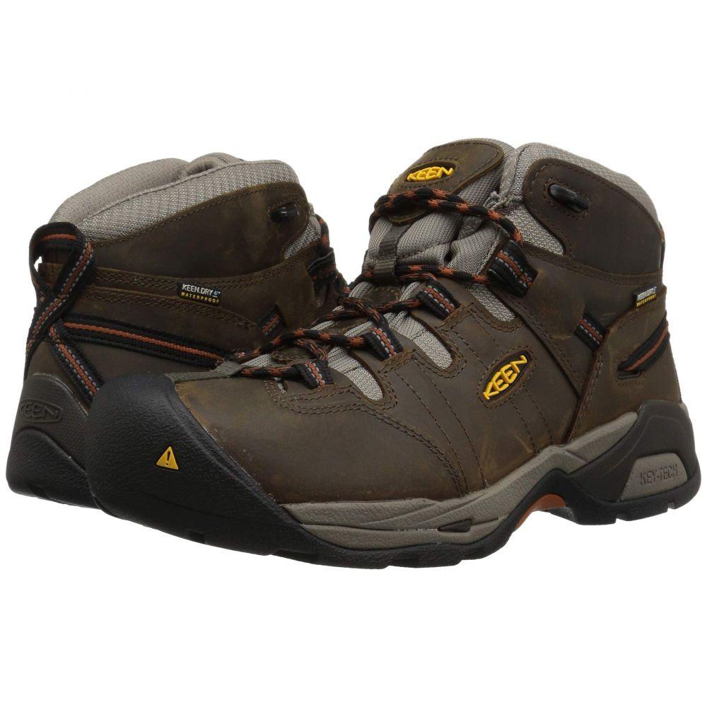 キーン シューズ・靴 Keen Utility メンズ シューズ Utility・靴 ブーツ キーン【Detroit XT Mid Soft Toe Waterproof】Black Olive/Leather Brown, 南幌町:3b585880 --- fancycertifieds.xyz