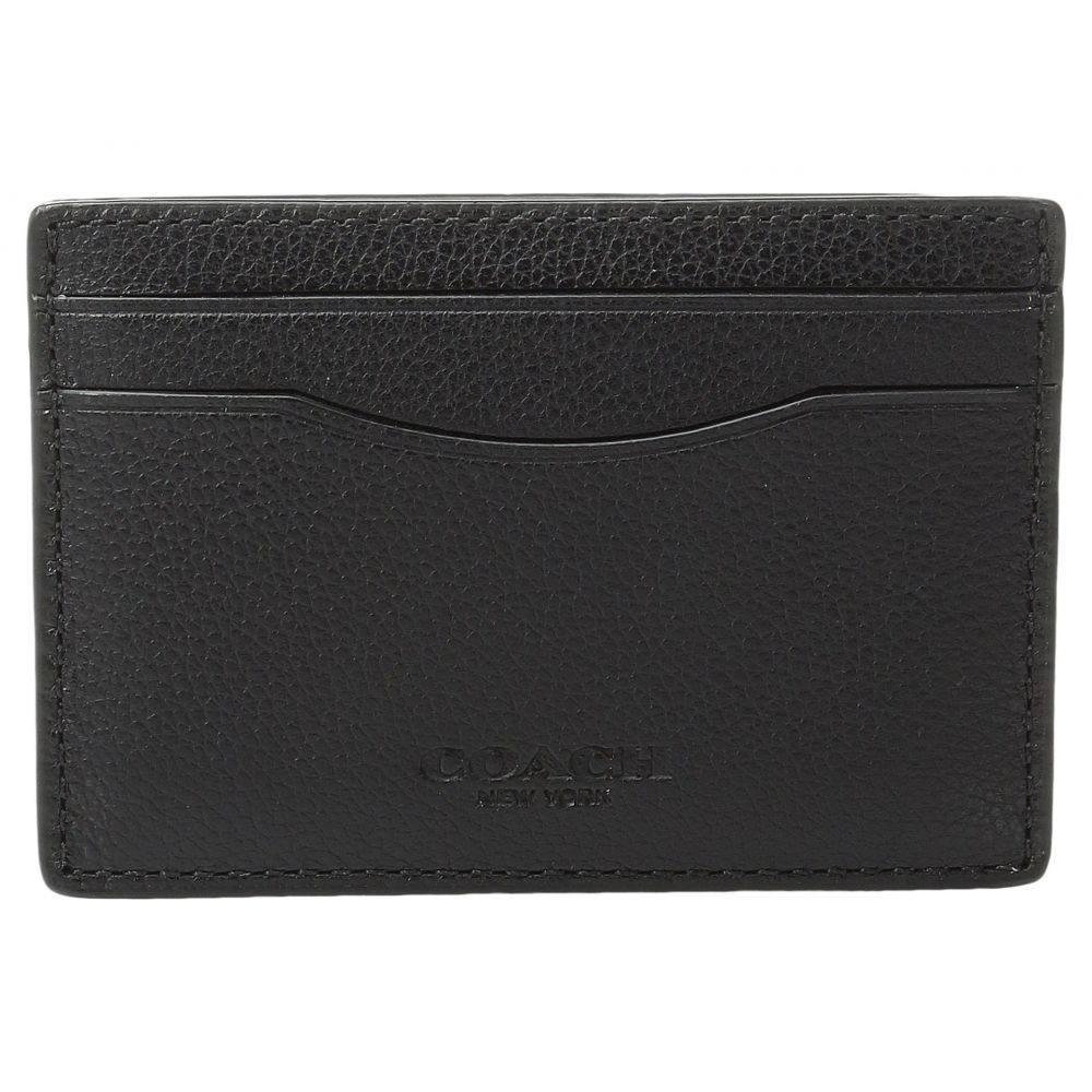 コーチ COACH メンズ カードケース・名刺入れ【Leather Card Case Box Set】Black 1
