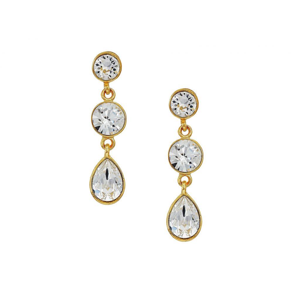 ケネスジェイレーン Kenneth Jay Lane レディース ジュエリー・アクセサリー イヤリング・ピアス【Gold/Crystal 3 Drop Pierced Earrings】Crystal