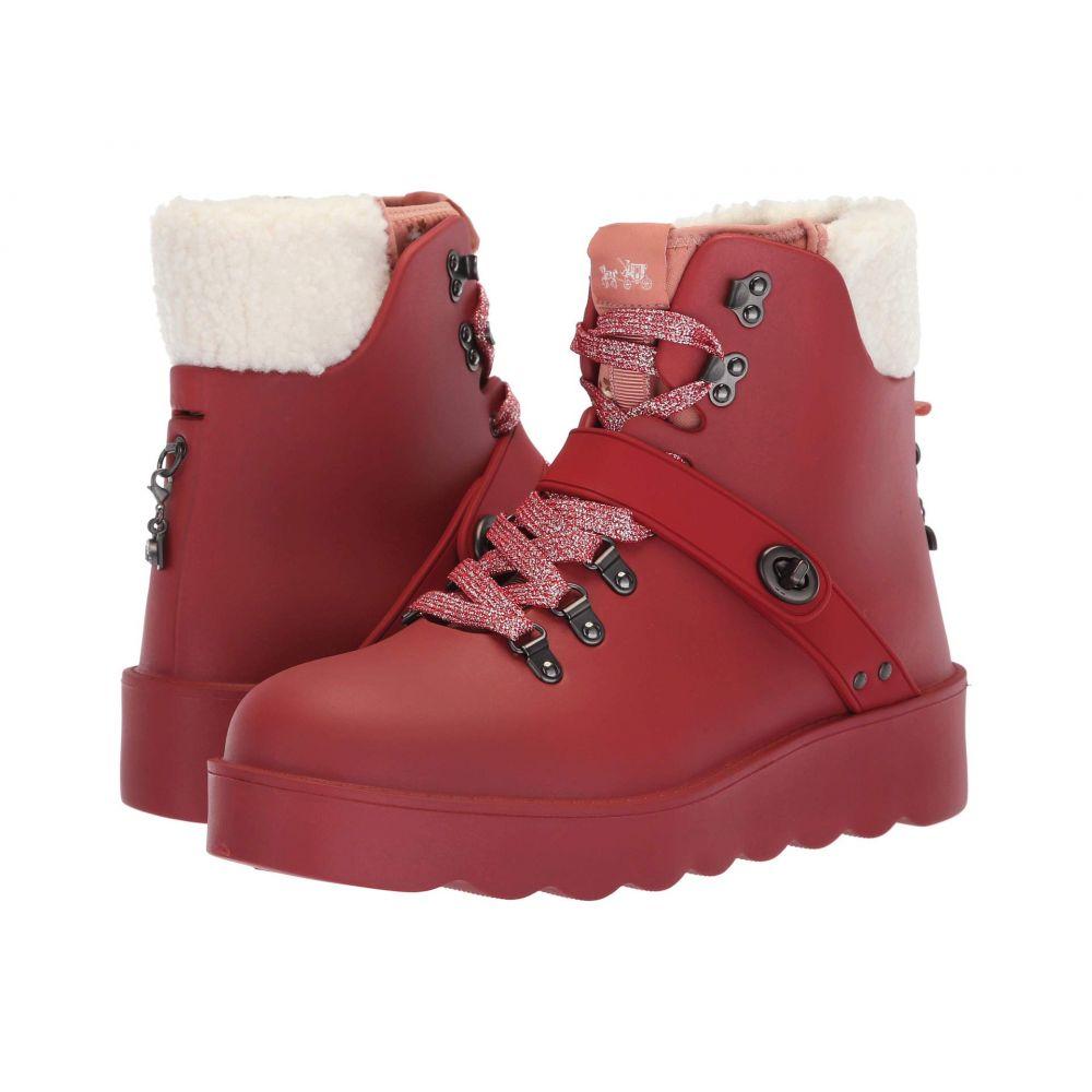 コーチ COACH レディース ハイキング・登山 シューズ・靴【Urban Hiker Rain Boot】Red Rubber