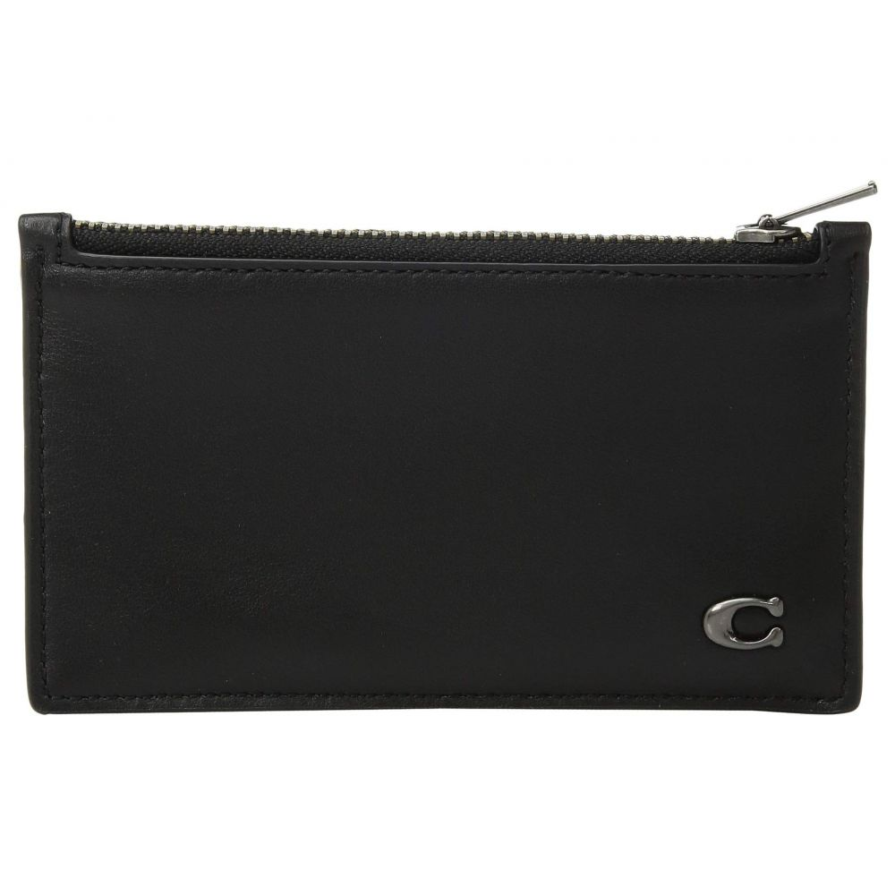 コーチ COACH メンズ カードケース・名刺入れ【Zip Card Case in Signature Hardware】Black