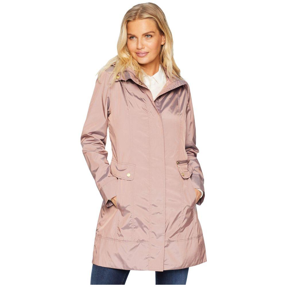 コールハーン Cole Haan レディース アウター レインコート【34 1/2' Single Breasted Rain Jacket with Removable Hood】Mauve