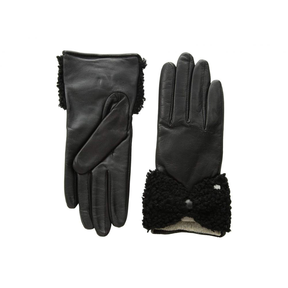アグ UGG レディース 手袋・グローブ【Tech Leather Gloves with Sheepskin Bow】Black