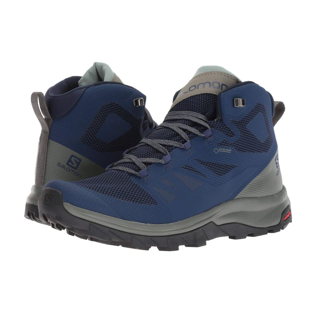 サロモン Salomon メンズ ハイキング・登山 シューズ・靴【Outline Mid GTX】Medieval Blue/Castor Gray/Green Milieu