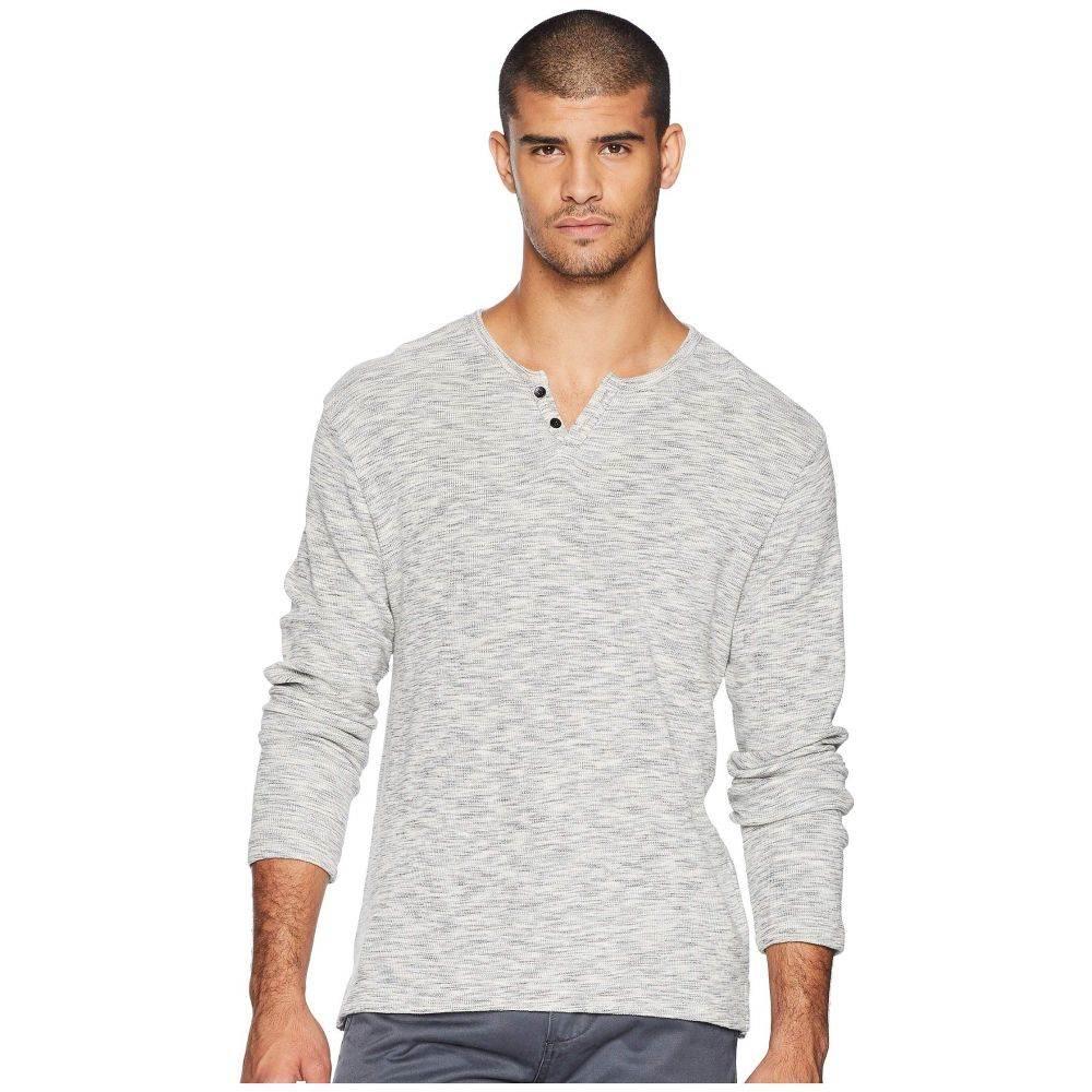 ジョーズジーンズ Joe's Jeans メンズ トップス 長袖Tシャツ【Wintz Long Sleeve Melange Thermal Henley】Black/White Melange