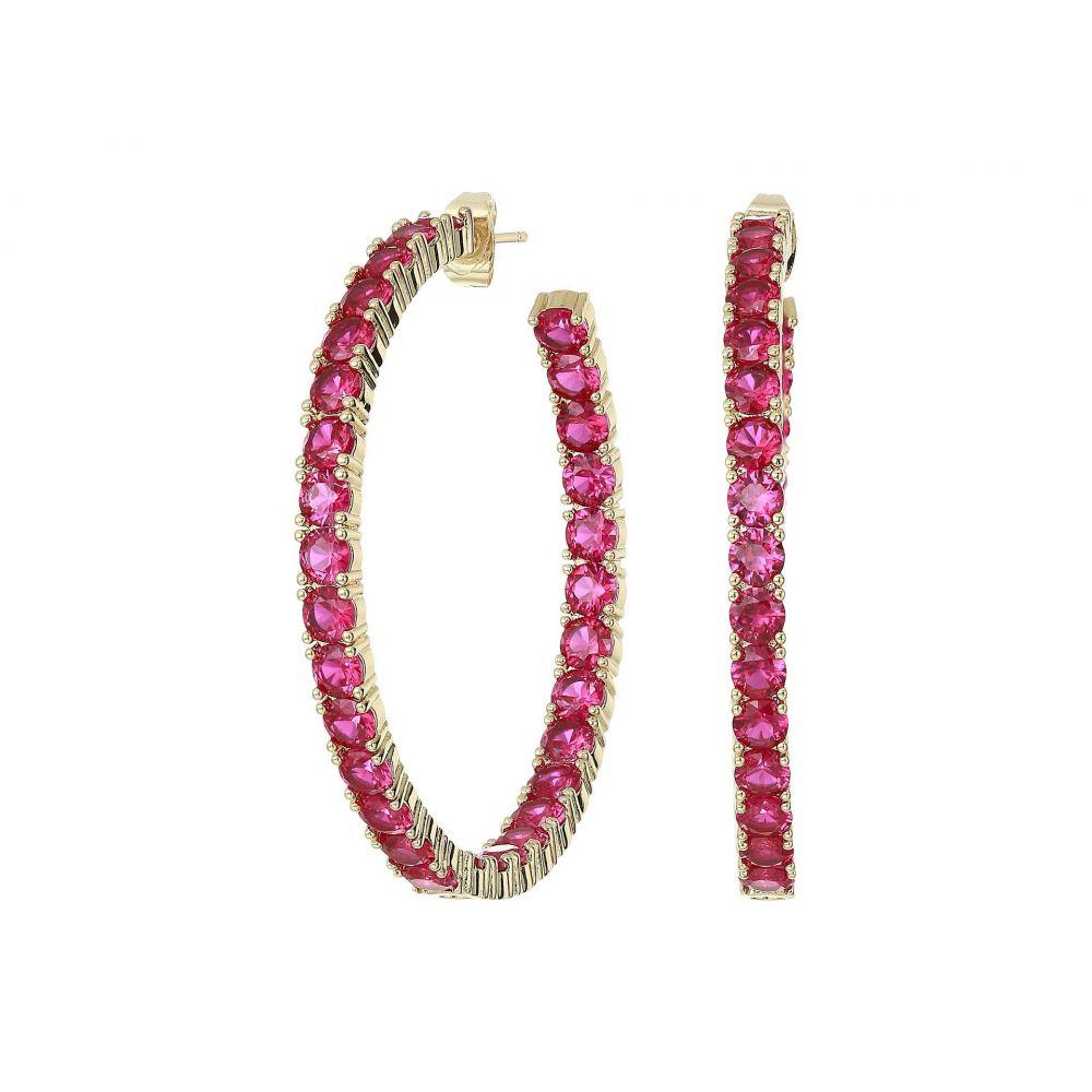 シャシ SHASHI レディース ジュエリー・アクセサリー イヤリング・ピアス【Bianca Hoop Earrings】Ruby