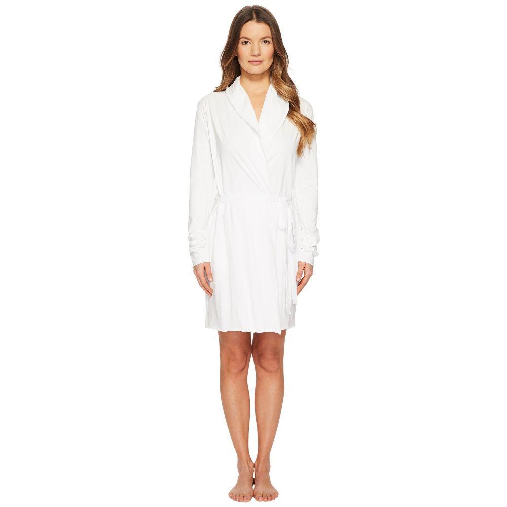 スキン Skin レディース インナー・下着 ガウン・バスローブ【Double Layer Wrap Robe 34' Length】White