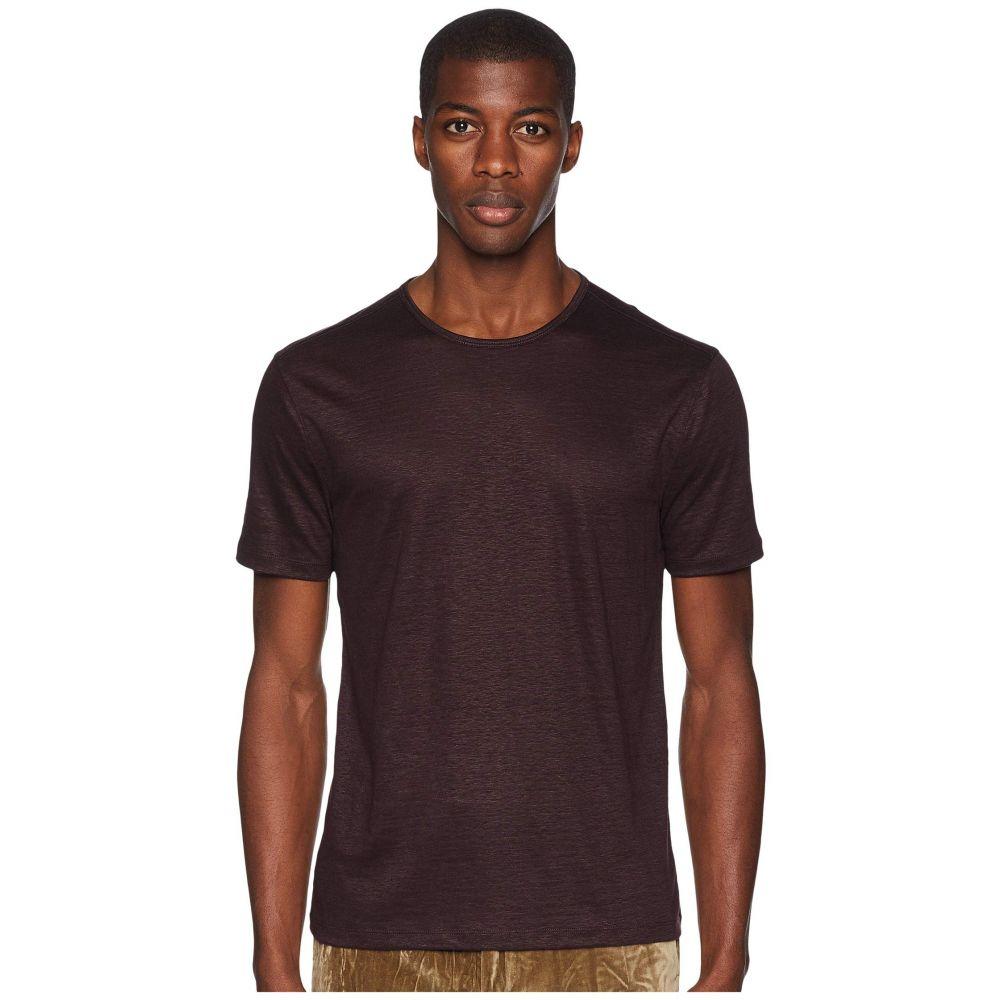ジョン バルベイトス John Varvatos Collection メンズ トップス Tシャツ【Short Sleeve Linen Crew Neck K2382U3】Merlot