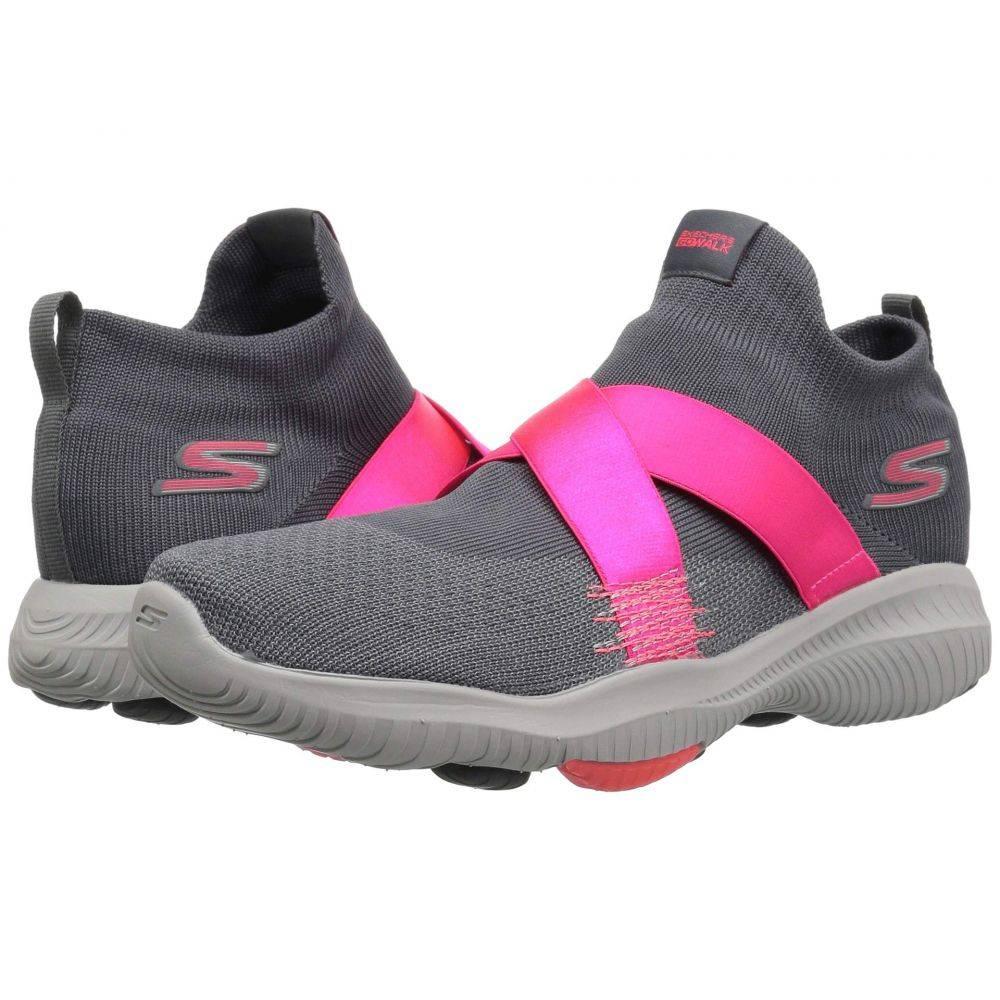 スケッチャーズ SKECHERS Performance レディース シューズ・靴【Go Walk Revolution Ultra Bolt】Charcoal/Hot Pink