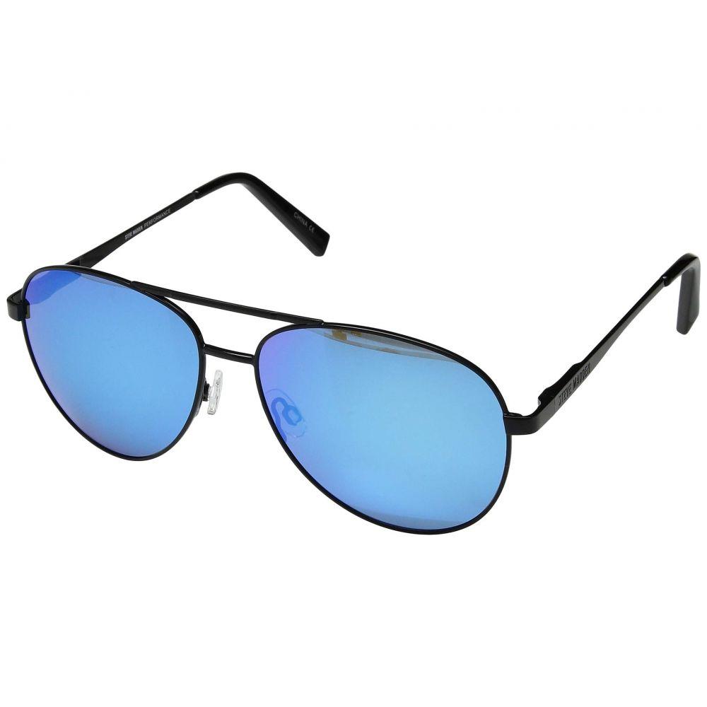 スティーブ マデン Steve Madden レディース メガネ・サングラス【Polarized Anita】Black Frame/Smoke Lens/Light Blue Mirror