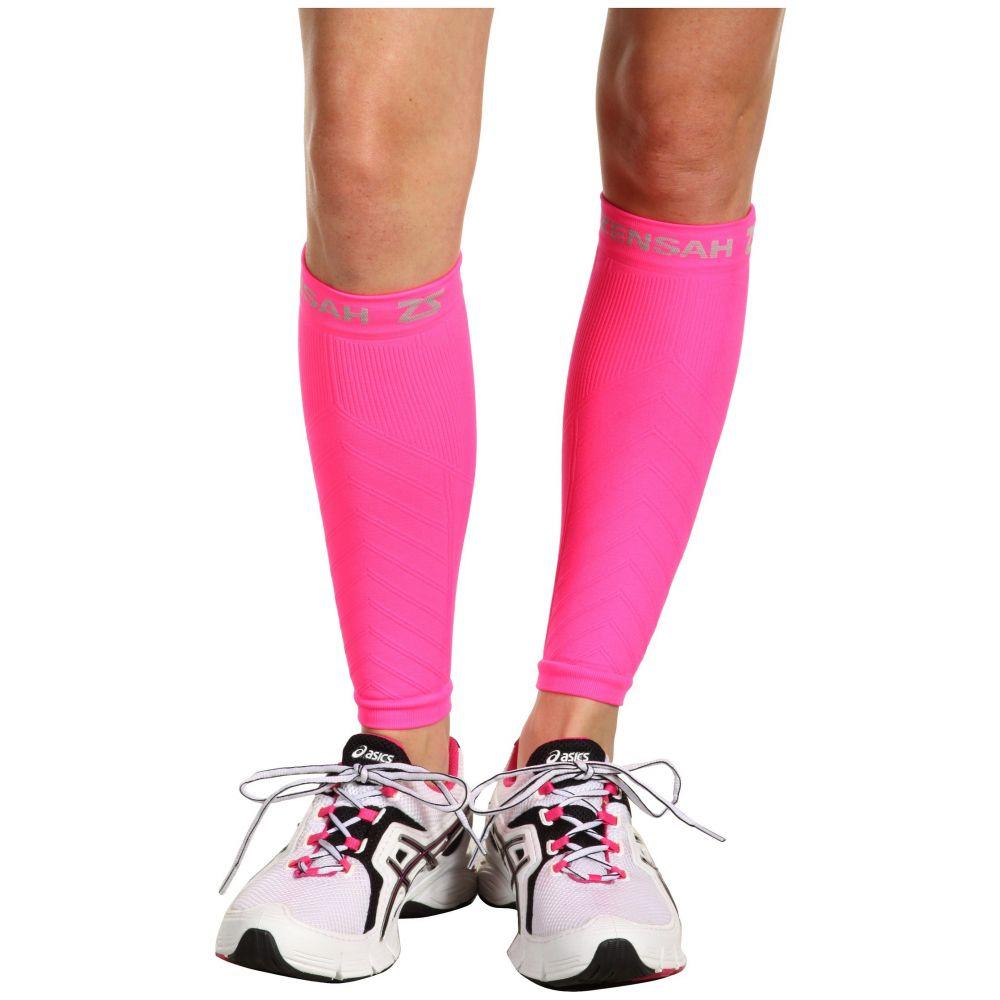 ゼンサー Zensah レディース フィットネス・トレーニング サポーター【Compression Leg Sleeves】Neon Pink