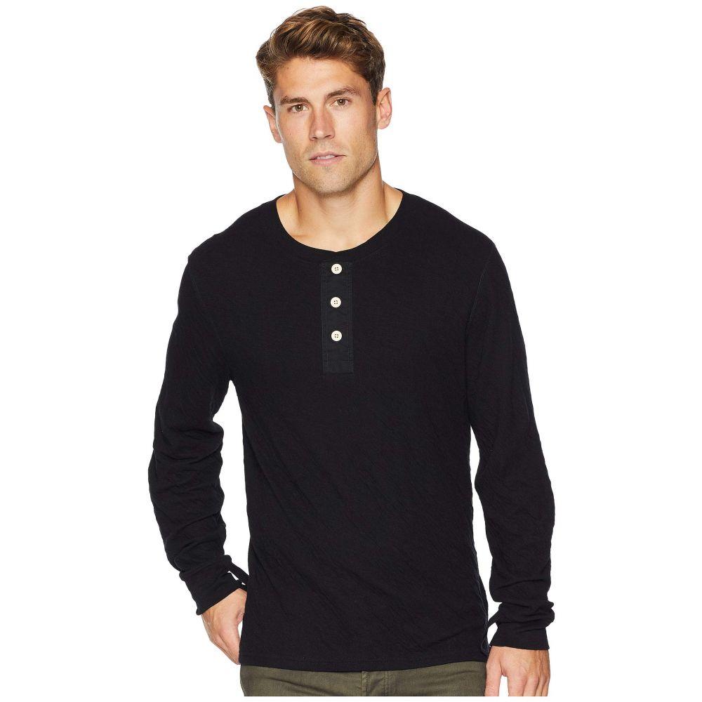 セブン フォー オール マンカインド 7 For All Mankind メンズ トップス 長袖Tシャツ【Long Sleeve Army Henley】Black