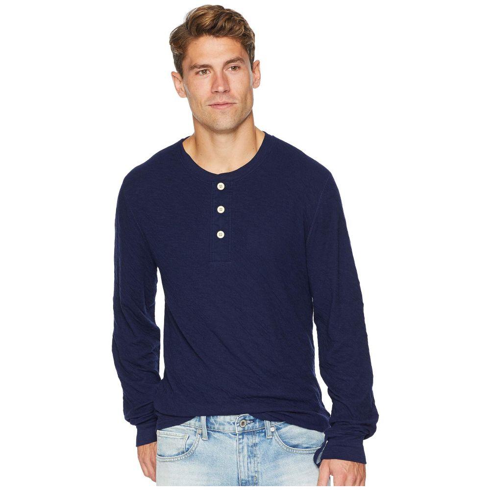 セブン フォー オール マンカインド 7 For All Mankind メンズ トップス 長袖Tシャツ【Long Sleeve Army Henley】Midnight Navy
