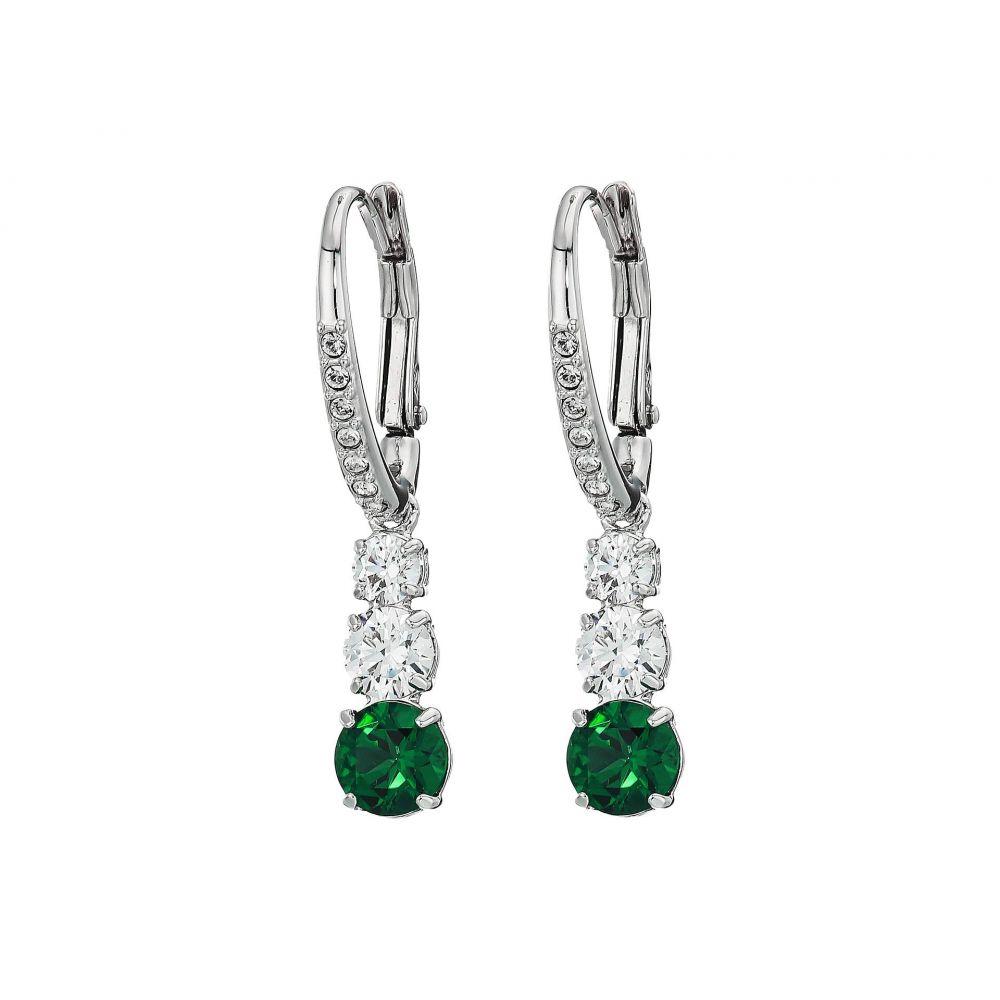 スワロフスキー Swarovski レディース ジュエリー・アクセサリー イヤリング・ピアス【Attract Trilogy Round Pierced Earrings】Green