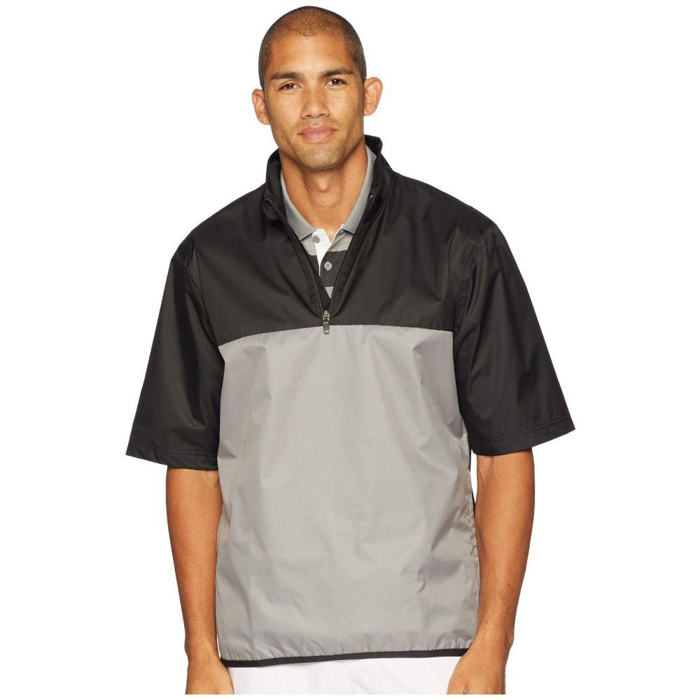 アディダス adidas Golf メンズ アウター レインコート【Climastorm Provisional Rain Short Sleeve Pullover】Black