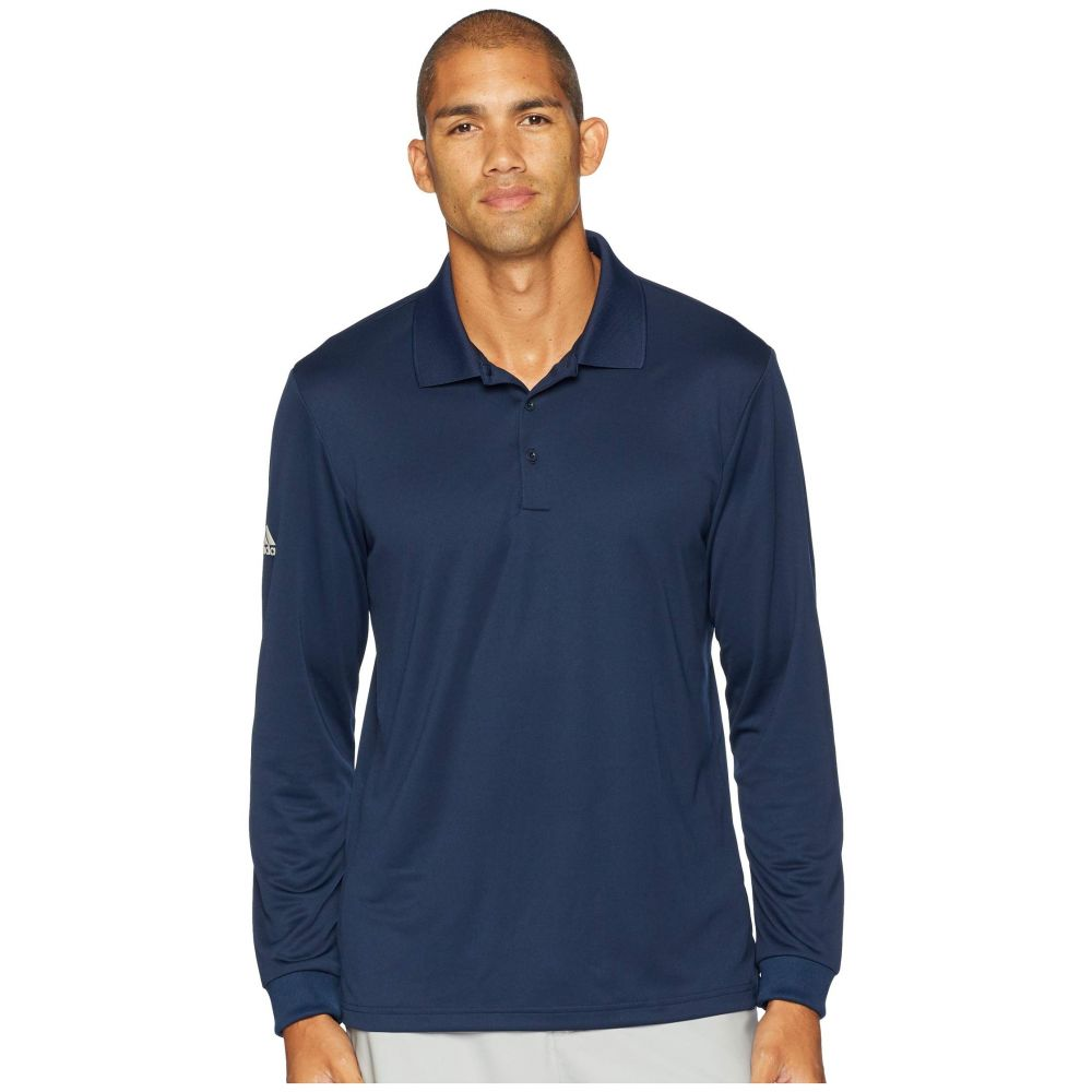 アディダス adidas Golf メンズ トップス ポロシャツ【Performance Long Sleeve Polo】Collegiate Navy