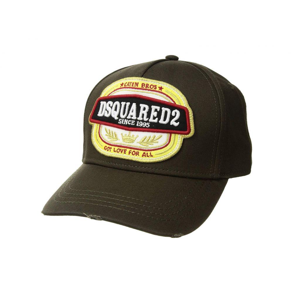 ディースクエアード DSQUARED2 メンズ 帽子 キャップ【Got Love For All Baseball Cap】Khaki