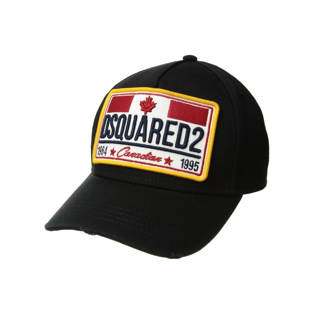 ディースクエアード DSQUARED2 メンズ 帽子 キャップ【Classic Logo Baseball Cap】Black