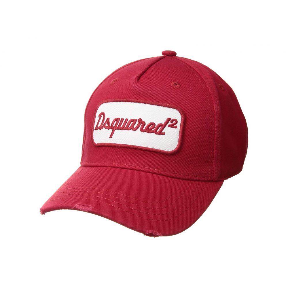 ディースクエアード DSQUARED2 メンズ 帽子 キャップ【Retro Logo Baseball Cap】Red