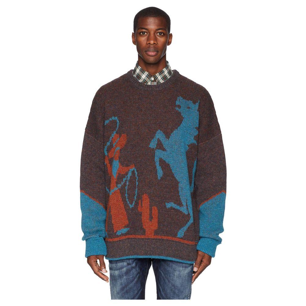 ディースクエアード DSQUARED2 メンズ トップス ニット・セーター【Cowboy Sweater】Brown/Light Blue/Orange