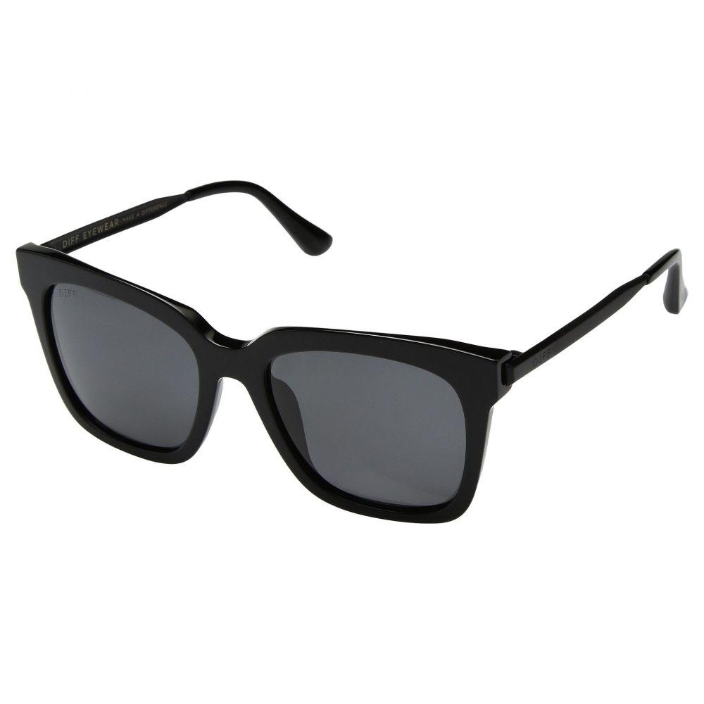 ディフアイウェア DIFF Eyewear レディース メガネ・サングラス【Bella】Black/Grey