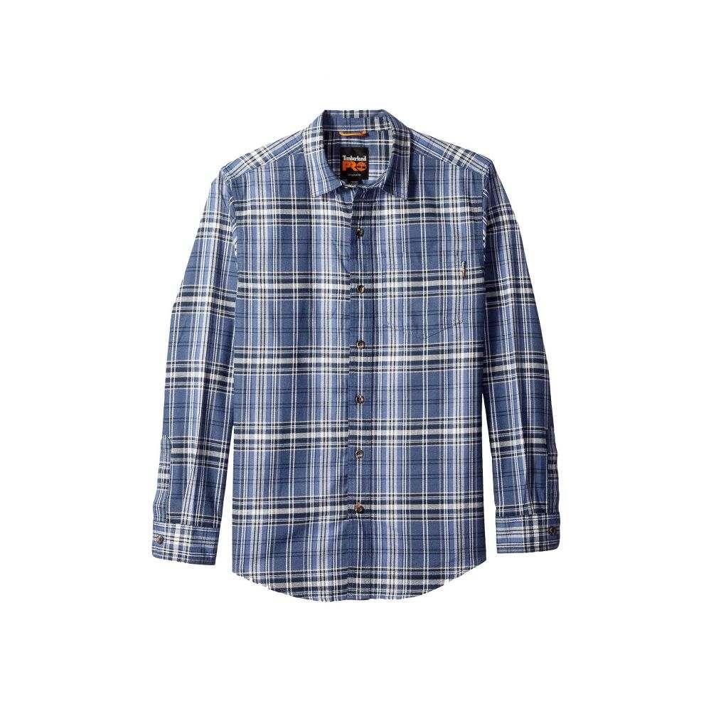 ティンバーランド Timberland PRO メンズ トップス シャツ【R-Value Flannel Work Shirt】Hampton Plaid Vintage Indigo