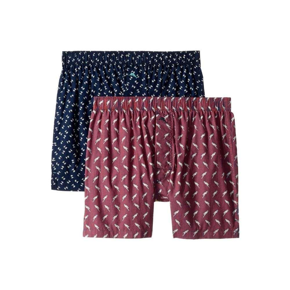 トミー バハマ Tommy Bahama メンズ インナー・下着 ボクサーパンツ【2-Pack Island Washed Cotton Woven Boxer Set】Parrots