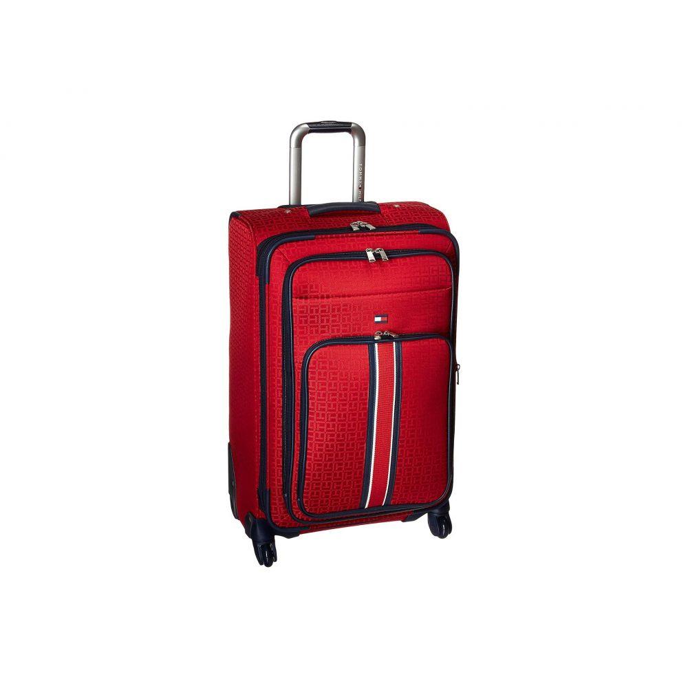 トミー ヒルフィガー Tommy Hilfiger レディース バッグ スーツケース・キャリーバッグ【Classic Signature Jacquard 25' Upright Suitcase】Red